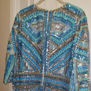 Parker sequin embellised dress nwt